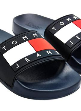 Flip flops Tommy Jeans Flag Pool Slide Blu Navy Donna