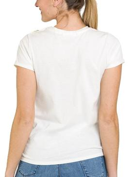 T-Shirt Naf Naf Colors Bianco per Donna