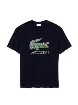 T-Shirt Lacoste TH6386 Nero Uomo