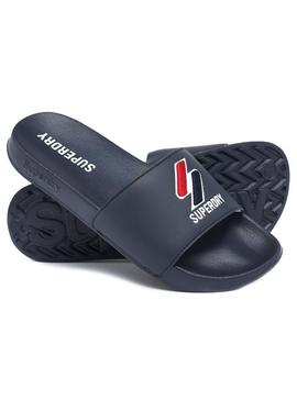 Flip flops Superdry Core Pool Slide Blu Navy Uomo