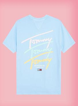 T-Shirt Tommy Jeans Pastel Logo Repeat Uomo