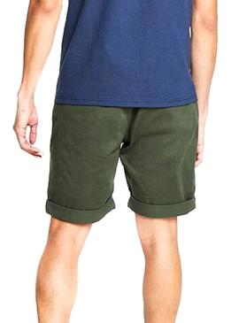 Shorts Tommy Jeans Essential Chino Verde Uomo