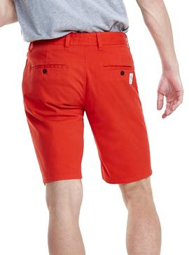Shorts Tommy Jeans Essential Chino Rosso Uomo