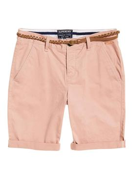 Shorts Superdry Chino City Rosa per le donne
