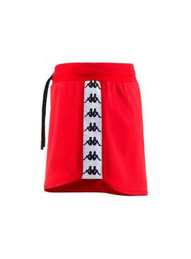 Short Kappa Anguy Rosso Donna