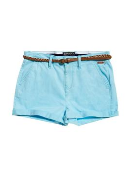 Short Superdry Chino Donna Celeste