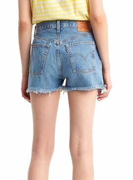 Short Levis 510 High Rise Blu Donna