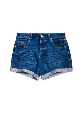 Short Superdry Steph Indigo Woman