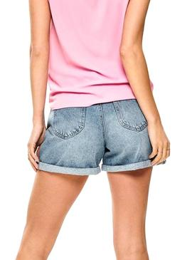 Shorts Only Lola Mom Midi Blue Woman