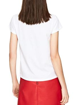 T-Shirt Pepe Jeans Alissa Bianco Donna