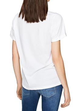 T-Shirt Pepe Jeans Adette Bianco Donna