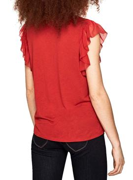 Top Pepe Jeans Auteuil Rosso Donna