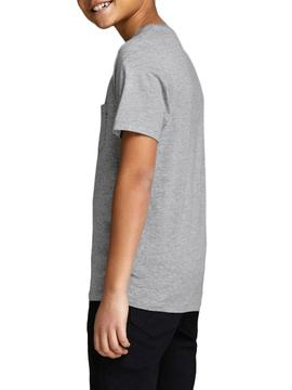 T-Shirt Jack and Jones Pocket Grey Bambino