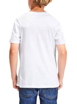 T-Shirt Jack and Jones Pocket Bianco Bambino