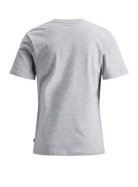 T-Shirt Jack and Jones Fresco Grigio Bambino
