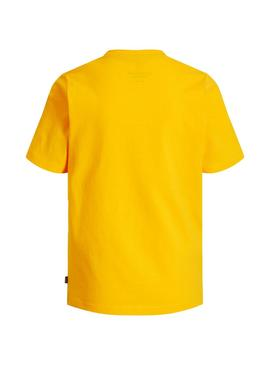 T-Shirt Jack e Jones Viking Giallo Bambino