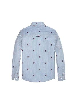 Camicia Tommy Hilfiger Fashion All Over Blue