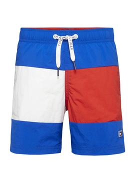 Swinsuit Tommy Hilfiger Colorblock Kids Blu