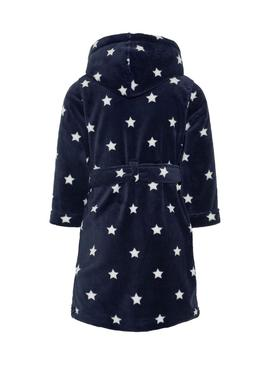 Bathrobe Name It Stars Kids Blue Navy