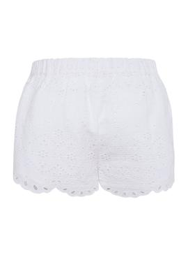 Short Pepe Jeans Evelyn White per Bambina