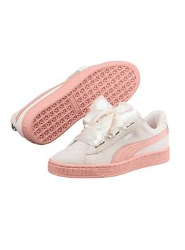 Sneaker Heart Puma Suede Jewel JR Bianco