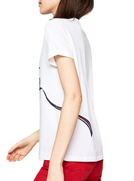 T-Shirt Pepe Jeans Anouck Bianco Donna