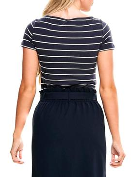 T-Shirt Only Live Stripes Blu Marine Donna