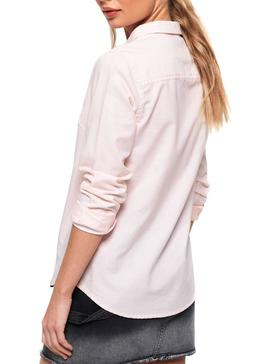 Camicia Superdry Oxford Stripe Pink Donna