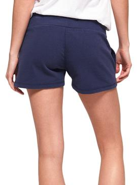 Short Superdry Track e Field Blu Donna