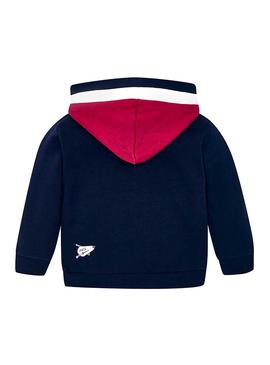 Felpe Mayoral Tricolore Blu Navy Bambino