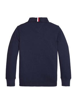 Polo Tommy Hilfiger Colorblock Blu Navy Per Bambin
