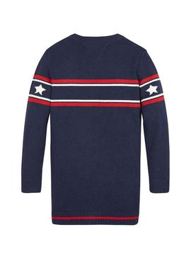 Abito Tommy Hilfiger Graphic stelle per Bambina