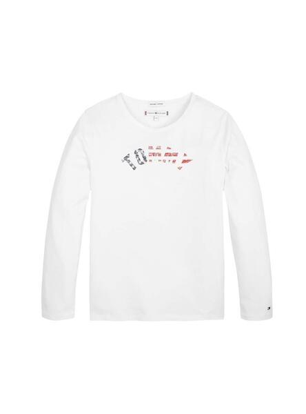 TOMMY HILFIGER T Shirt donna rossa con stampa essential