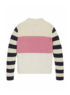 Maglia Tommy Hilfiger Colorblock Stripes Bambina