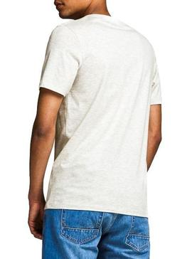 T-Shirt Jack and Jones Logo Bianco Uomo