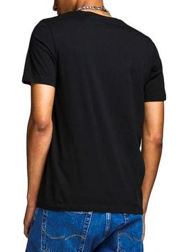 T-Shirt Jack and Jones Logo nero Uomo