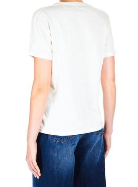 T-Shirt Pepe Jeans Mia Bianco Donna