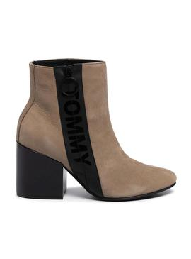 Stivaletti Tommy Jeans Mid Heel Camel Donna