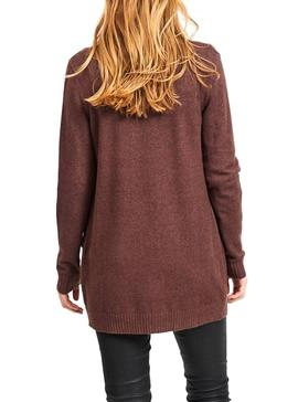 Cardigan Vila Viril Marron Donna