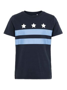 T-Shirt Name It Octavio Blue Bambino