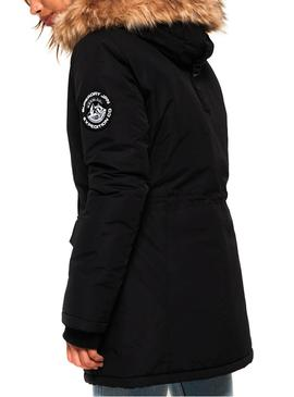 Parka Superdry Ashley Everest Black Donna