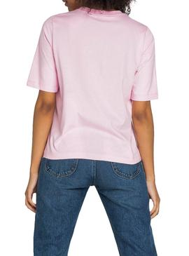 T-Shirt Lee Cansas Rosa Donna