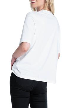 T-Shirt Lee Cansas Bianco Donna
