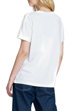 T-Shirt Lee Minilogo Bianco Donna
