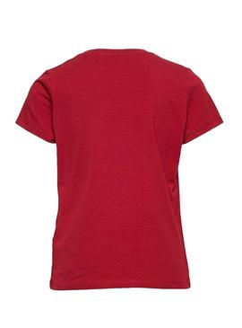 T-Shirt Name It Nika Rosso Bambina