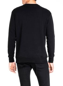Felpe Lee Velour Black Uomo