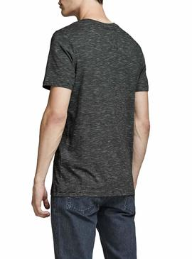 T-Shirt Jack and Jones Comick Black Uomo