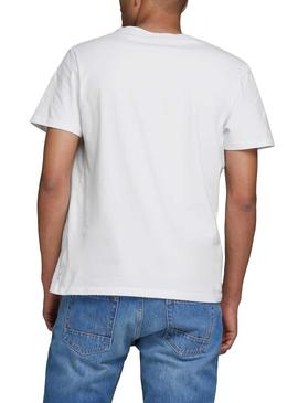 T-Shirt Jack and Jones Comick Bianco Uomo
