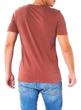 T-Shirt Jack and Jones Kally Rosso Uomo