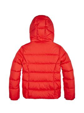 Giubbotto Tommy Hilfiger Basic Down Rosso Bambina